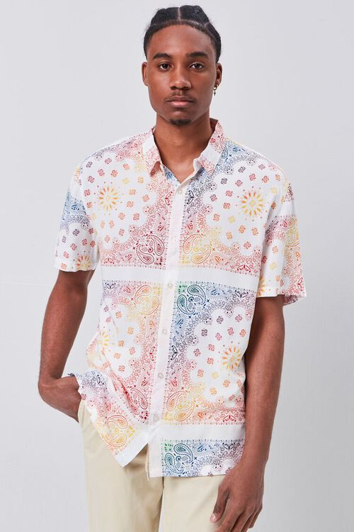 CREAM/MULTI Classic Fit Ornate Print Shirt, image 1