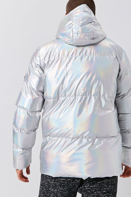 Reason Iridescent Hooded Puffer Jacket, image 3