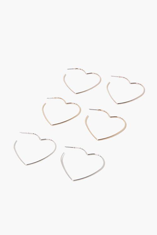Heart Hoop Earring Set, image 1