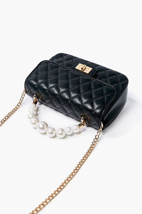 Quilted Faux Pearl Crossbody Bag, image 4