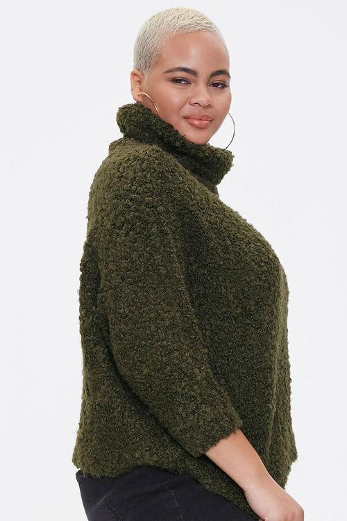 Plus Size Boucle Turtleneck Sweater, image 2