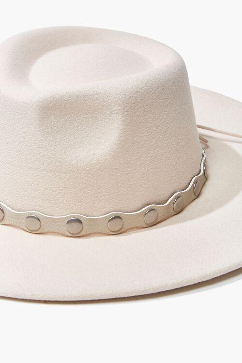 Studded-Trim Felt Panama Hat, image 5