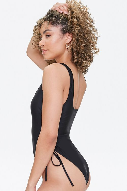Drawstring One-Piece Swimsuit, image 2