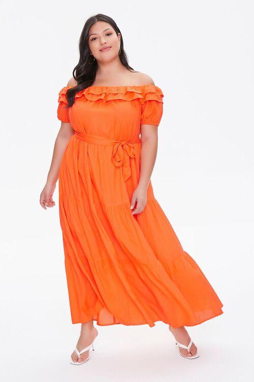 Plus Size Off-the-Shoulder Maxi Dress, image 1