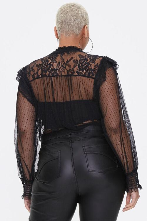 Plus Size Sheer Mesh Bodysuit, image 3