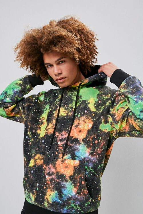 Outer Space Wash Drawstring Hoodie, image 1