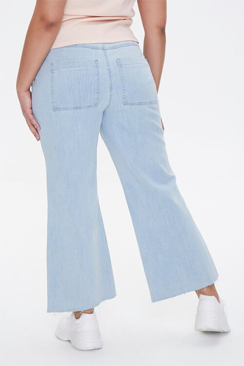Plus Size Pinstriped Wide-Leg Jeans, image 4