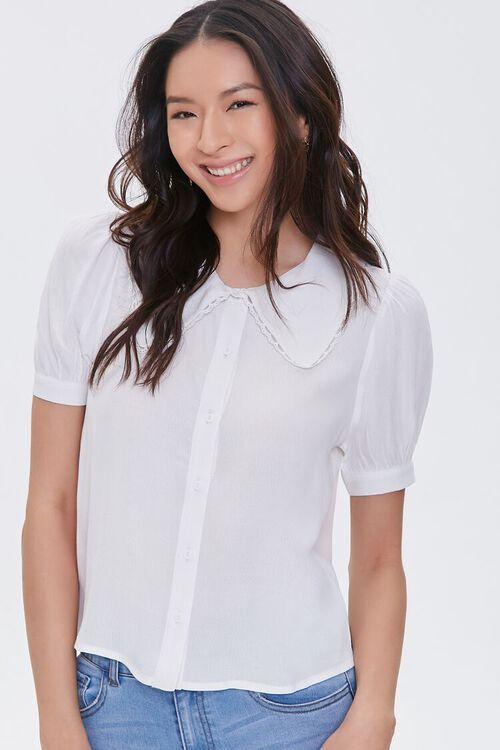 Puff-Sleeve Button-Up Shirt, image 2
