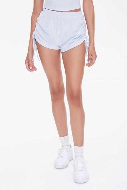 Ruched Drawstring Shorts, image 2