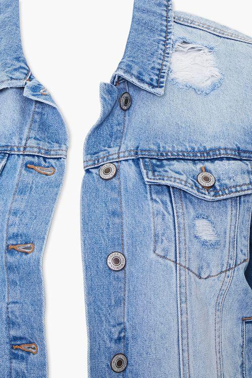 Plus Size Distressed Denim Jacket, image 4