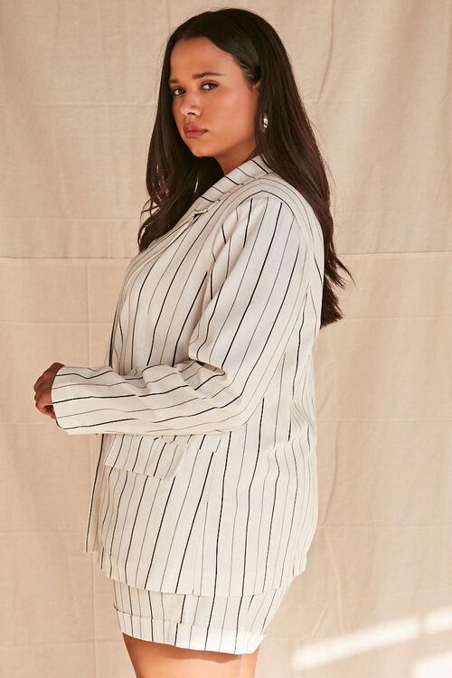 Plus Size Pinstriped Blazer, image 2