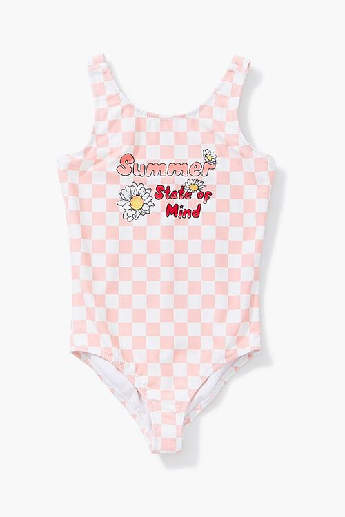 Girls Summer Graphic One-Piece Swimsuit (Kids), image 1
