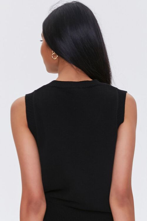 BLACK Heathered Sweater Vest, image 3