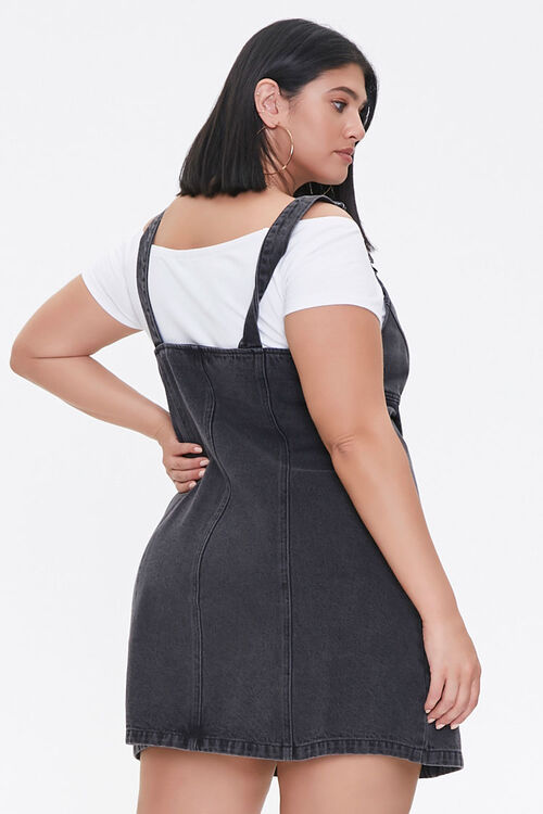 Plus Size Denim Overall Dress, image 3