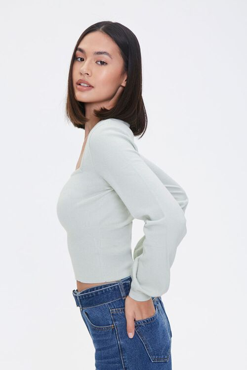 Ribbed Sweater-Knit Top, image 2