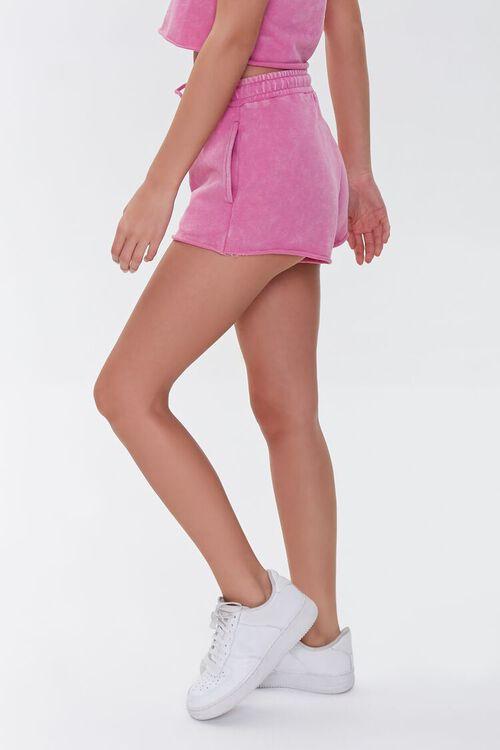 HOT PINK French Terry Drawstring Shorts, image 3