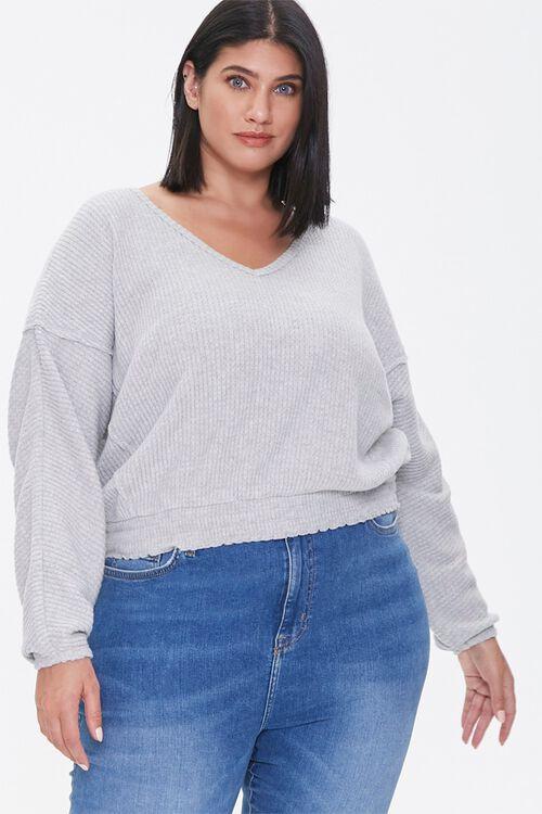 Plus Size Waffle Knit Top, image 1