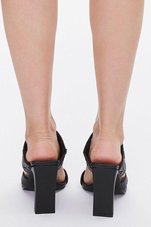 BLACK Basketwoven Toe-Ring Heels, image 3