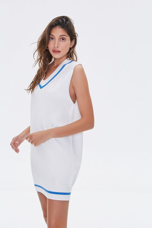 Striped-Trim Sweater Vest Dress, image 2