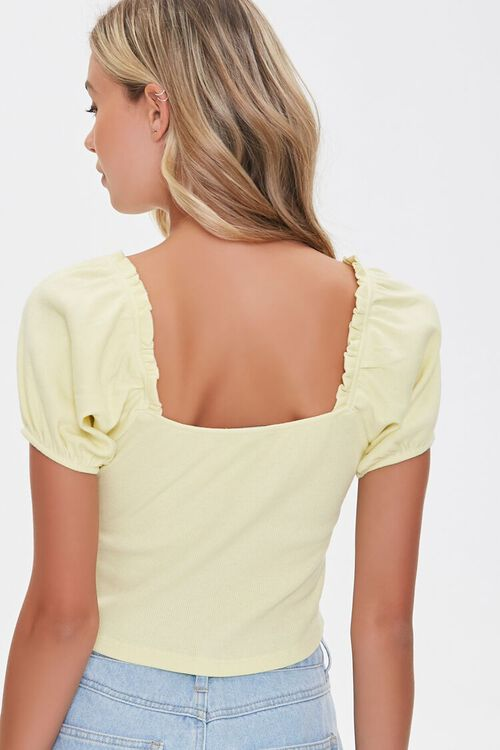 Ruched Puff-Sleeve Top, image 3