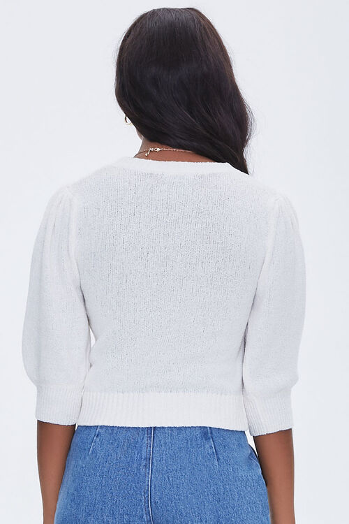 Textured Puff Sleeve Sweater, image 3