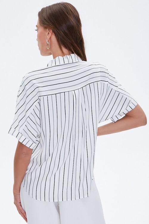 Boxy Pinstriped Dolman Shirt, image 3