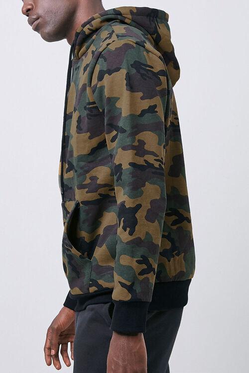 Camo Print Fleece Hoodie, image 2