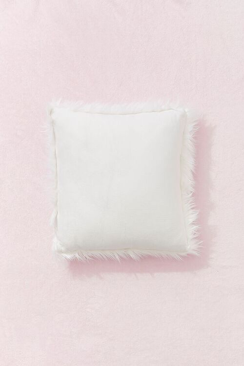 Shag Faux Fur Throw Pillow, image 2