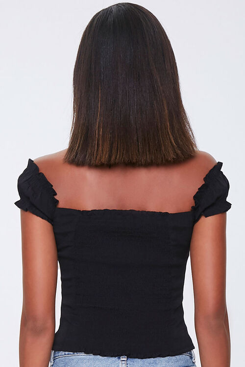 Off-the-Shoulder Ruffle-Trim Top, image 3