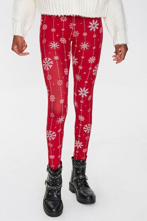 Snowflake Print Leggings, image 2