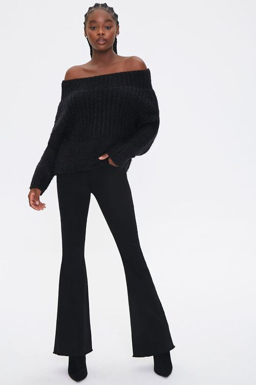 Fuzzy Knit Off-the-Shoulder Sweater, image 4