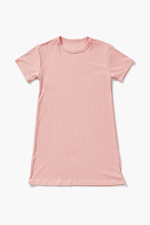 Girls Ribbed T-Shirt Dress (Kids), image 1