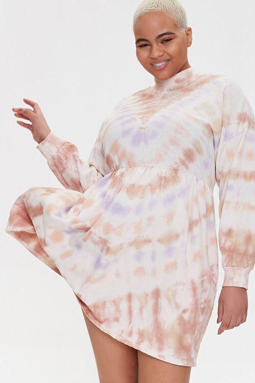 Plus Size Tie-Dye Mini Dress, image 1