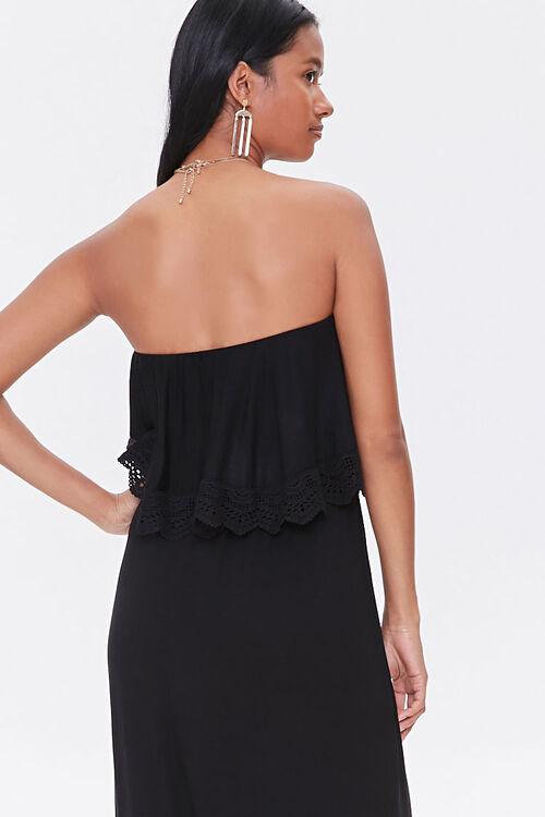 Strapless Crochet-Trim Maxi Dress, image 3