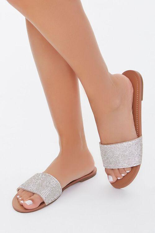 Rhinestone Flat Sandals, image 1