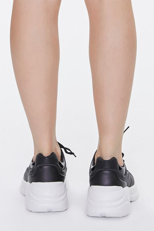 Faux Leather Low-Top Sneakers, image 3