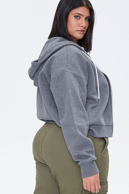 Plus Size Fleece Zip-Up Hoodie, image 2