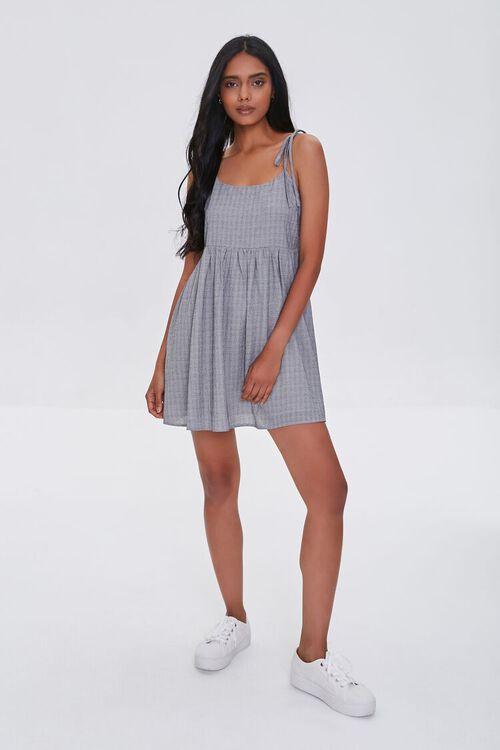 IVORY/BLACK Self-Tie Cami Mini Dress, image 4