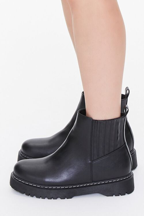 Faux Leather Chelsea Boots, image 2