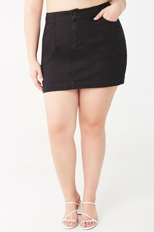 Plus Size A-Line Denim Skirt, image 2