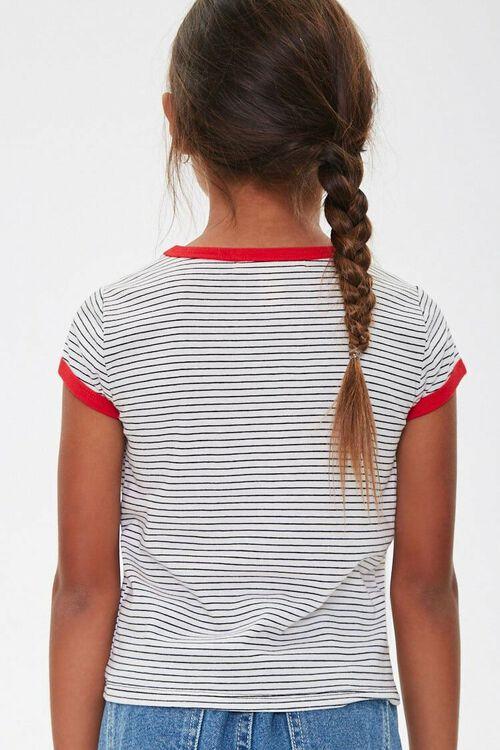 Girls Pinstriped Ringer Tee (Kids), image 2