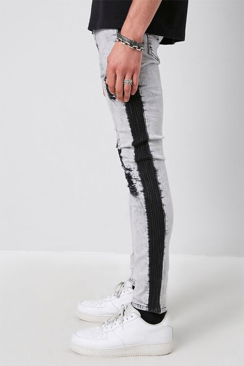 Contrast Wash Distressed Skinny Jeans, image 3