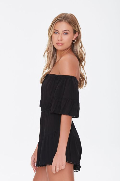 Off-the-Shoulder Ruffle Romper, image 2