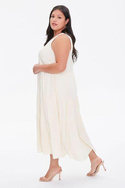 LIGHT YELLOW Plus Size Column Midi Dress, image 3