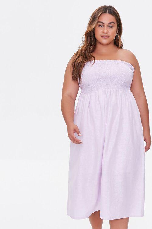 Plus Size Smocked Midi Dress, image 1
