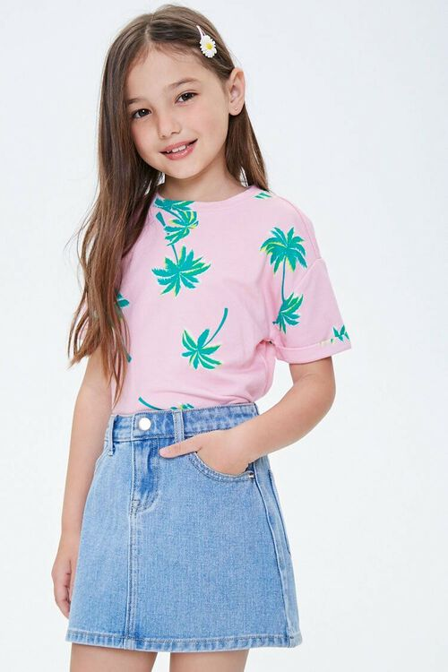 Girls Denim A-Line Skirt (Kids), image 1