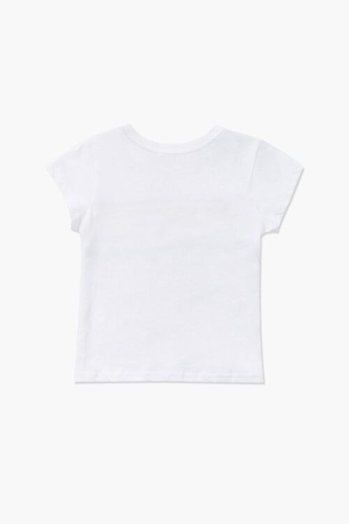 Girls Rainbow Striped-Trim Tee (Kids), image 2