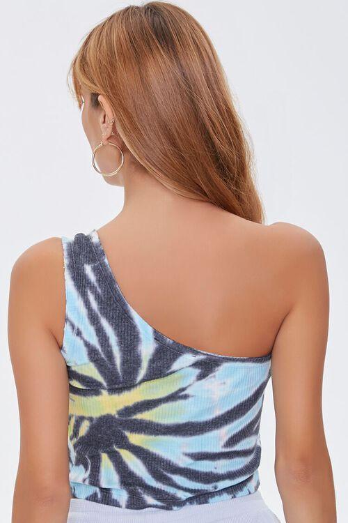 BLACK/MULTI One-Shoulder Tie-Dye Top, image 3
