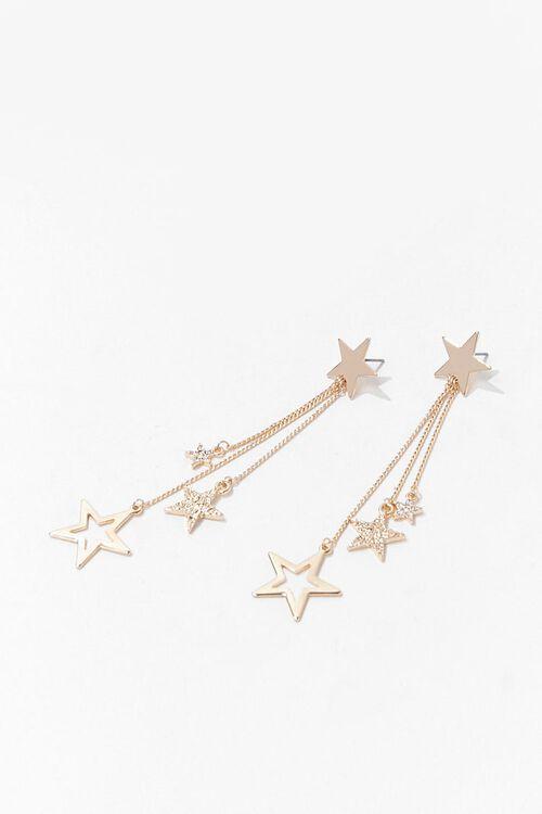 Rhinestone Star Drop Earrings, image 3
