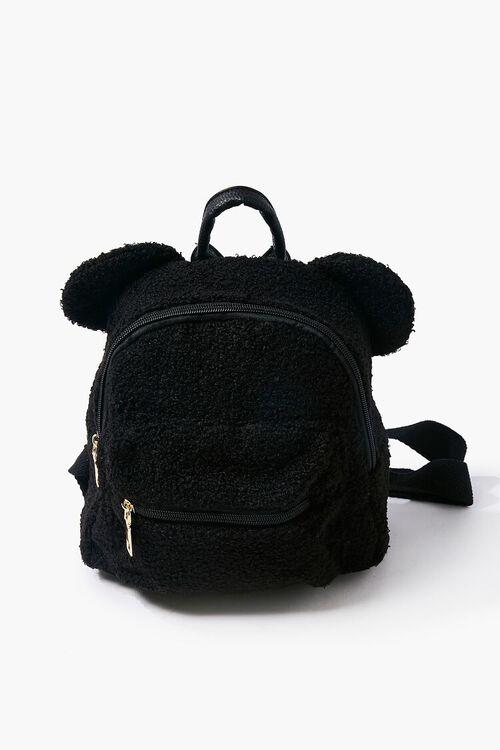 Faux Shearling Bear Backpack, image 1